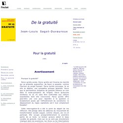 J L Sagot Duvauroux - De la gratuité 2