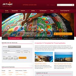 Travel with Joomla 2.5 Template