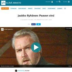 Jaakko Ryhänen: Paavon virsi