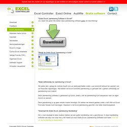 """Gratis Excel Jaarrekening Software In Excel!"""
