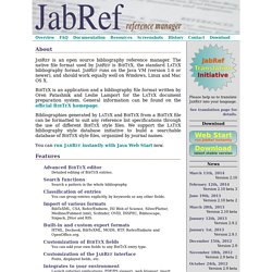 JabRef reference manager