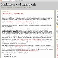 Czym jest Java EE 6 Web Profile?