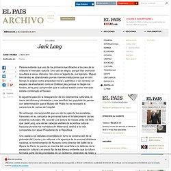 Jack Lang · ELPAÍS.com