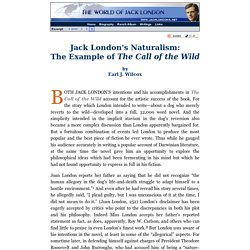 Jack London's Naturalism: The Example of The Call of the Wild