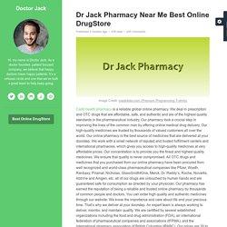 Dr Jack Pharmacy Near Me Best Online DrugStore