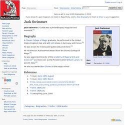Jack Swimmer - Magicpedia