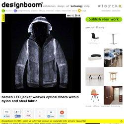 nemen LED jacket weaves optical fibers within nylon and steel fabric