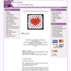 Jackie's Heart Granny Square Crochet Pattern