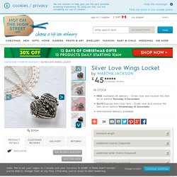 silver love wings locket by martha jackson