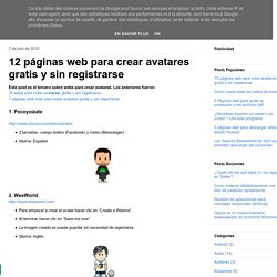 12 páginas web para crear avatares gratis y sin registrarse