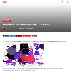 JacksonPollock.org: Create Jackson Pollock Style Paintings Online