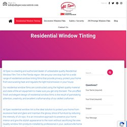 Residential Window Film Tinting, Florida, Jacksonville