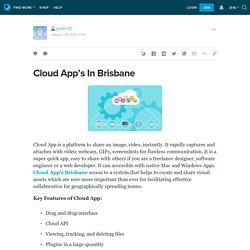 Cloud App's In Brisbane: jacktin121 — LiveJournal