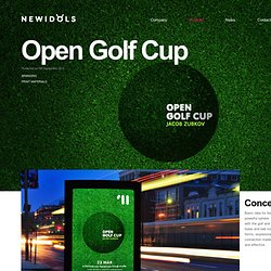 Jacob Zubkov Open Golf Cup Branding