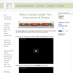 Make a Jacobs Ladder Toy - Easy Instructions to Build Your Own