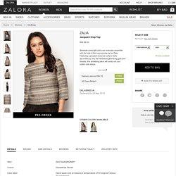 Buy Zalia Jacquard Crop Top Online