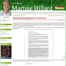 Albert Jacquard soutient Jean-Luc Mélenchon