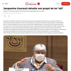 """Jacqueline Gourault détaille son projet de loi """"4D"""""""