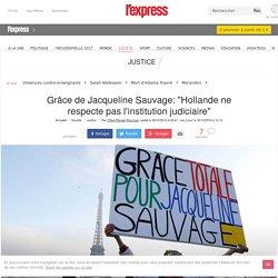 """Grâce de Jacqueline Sauvage: """"Hollande ne respecte pas l'institution judiciaire"""""""