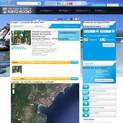 Thome jacqueline<br>meublé de tourisme locations particulier porto vecchio sud corse
