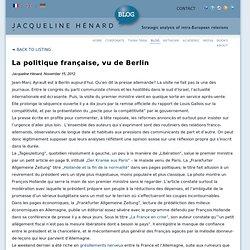 Revue de presse allemande (1) Blog