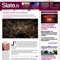 Jacques Attali: Cent milliards
