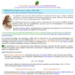 Jacques Bernoulli, dit Jacques 1er