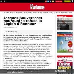 Jacques Bouveresse: pourquoi je refuse la Légion d'honneur