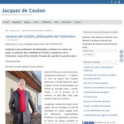 Jacques de Coulon, philosophe de l'attention – Jacques de Coulon