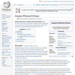 Jacques Ploncard d'Assac