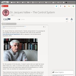 Dr. Jacques Vallee ~ The Control System, page 1