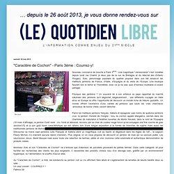"""""""Caractère de Cochon"""" - Paris 3ème : Courrez-y!"""