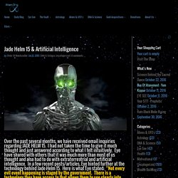 Jade Helm 15 & Artificial Intelligence
