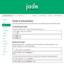 Jade - Template Engine