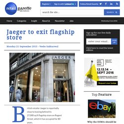 Jaeger to exit flagship store