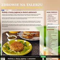 Kotlety z kaszy jaglanej w dwóch odsłonach « Blog kulinarny i zdrowe przepisy - Zdrowie Na Talerzu