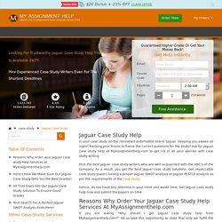 Jaguar Case Study Help: Swot & Pestle Analysis Answer/Solution Online