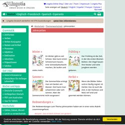 Jahreszeiten - Lingolia Deutsch
