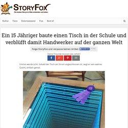 Ein 15 Jähriger baute einen Tisch in der Schule und verblüfft damit Handwerker auf der ganzen Welt