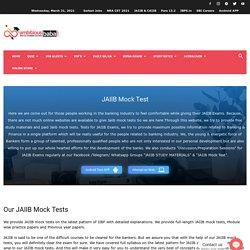 Jaiib Caiib Mock Test