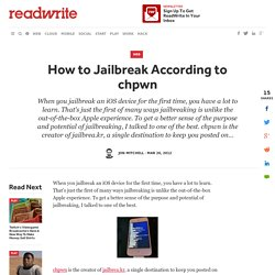 How To Jailbreak According To chpwn