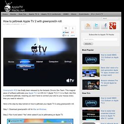 How to jailbreak Apple TV 2 with greenpois0n rc6