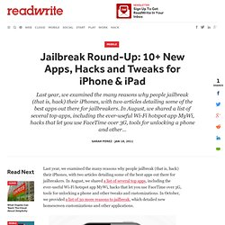 Jailbreak Round-Up: 10+ New Apps, Hacks and Tweaks for iPhone & iPad
