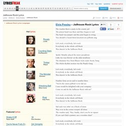 Jailhouse Rock Lyrics - Elvis Presley