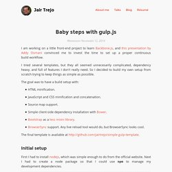 Baby steps with gulp.js
