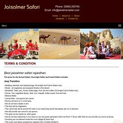Best jaisalmer safari Rajasthan