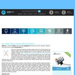 Jak udělat čistou instalaci OS X El Capitan