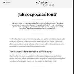 Jacek Kłosiński – blog