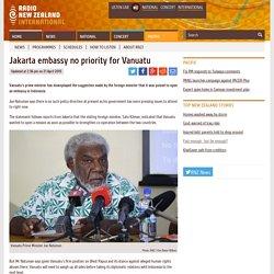 Jakarta embassy no priority for Vanuatu