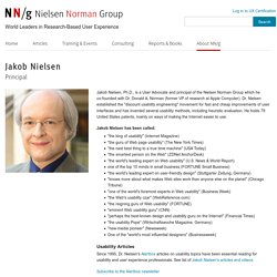 Jakob Nielsen, Ph.D. and Principal at Nielsen Norman Group